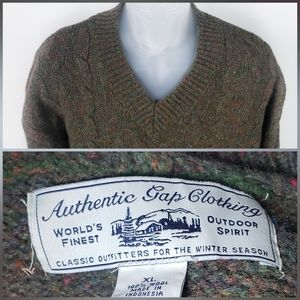 Vintage Authentic Gap Clothing Wool Sweater XL